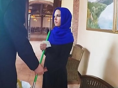 Hooded Arab Hottie On Her Knees With A Dick In Her Mouth